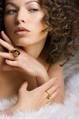 Jewelry and Beauty. Fashion art photo