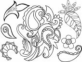 Pretty Paisley Vector Elements