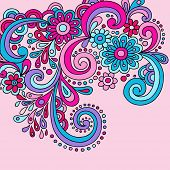 Psychedelic Groovy Abstract Paisley Swirls Vector