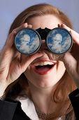 Far-Seeing Businesswoman
