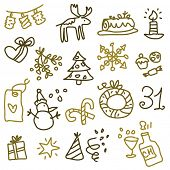stock photo of reveillon  - Christmas sketches 2 - JPG