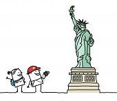 os turistas & estátua da liberdade