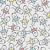 dibujos animados de rayas color - patrones sin fisuras