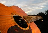 Relaxing Guitar At Sundown