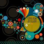 abstrakt stilvollen Rahmen mit Kreisen
