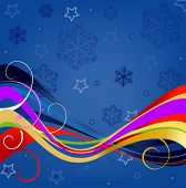 desenho abstrato floral para o inverno