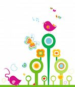 animals in springtime, design for kids