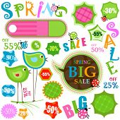 spring sale, various shapes and colors