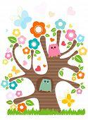 cute little owls in love