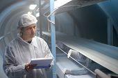 Zucker Raffinerie Qualitätskontrolle Inspektor