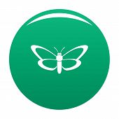 Nice Butterfly Icon. Simple Illustration Of Nice Butterfly Icon For Any Design Green poster
