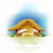Abbildung der Krippe anzeigen Geburt von jesus