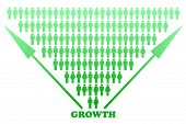 Stylized Big Growth Graph Design