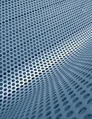 Blue Perforated Metallic Grid