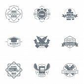 Whole School Logo Set. Simple Set Of 9 Whole School Logo For Web Isolated On White Background poster