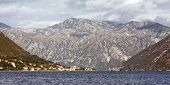 The Bay of Kotor, Montenegro, mountain view