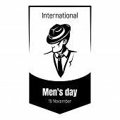 International Elegant Men Day Icon. Simple Illustration Of International Elegant Men Day Vector Icon poster