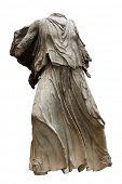 griechische kopflose Frauengestalt Skulpturen aus weißem Marmor mit Beschneidungspfad