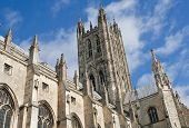 The Cathedral of Canterbury in a sunny day