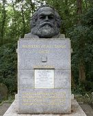 Karl Marx grave in Highgate cemetery in London