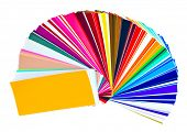 Color samples swatchbook isolated on white with clipping path