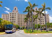 HAVANA-JUNE 26:The Hotel Nacional June 26,2011 in Havana.This luxury hotel,opened in 1930,was the fa