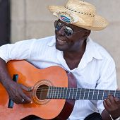 HAVANA-AUGUST 12:Street musician August 12,2011 in Havana.With Cuba receiving over two million touri