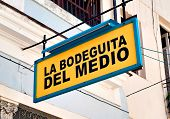 HAVANA-OCTOBER 20:La Bodeguita del Medio October 20,2011 in Havana.Since its opening in 1942,this fa