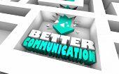 Better Communication Maze Communicate Best 3d Illustration poster