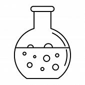 Chemical Round Flask Icon. Outline Illustration Of Chemical Round Flask Icon For Web Design Isolated poster