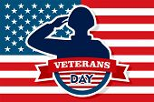 Usa Veterans Day Concept Background. Flat Illustration Of Usa Veterans Day Concept Background For We poster