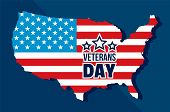 American Veterans Day Concept Background. Flat Illustration Of American Veterans Day Concept Backgro poster