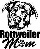 Animal Dog Rottweiler 6 Mom.eps poster