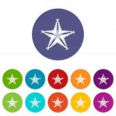 Starfish Icon. Simple Illustration Of Starfish Icon For Web poster