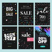 Black Friday Sale. Vector Illustration Concepts Of Online Shopping Website And Mobile Website Banner poster