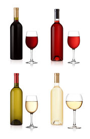 pic of alcoholic drinks  - Set of white - JPG