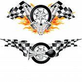 Sport-Rennen-Embleme