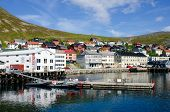City and harbor, Honningsvag, Nordkapp municipality, Norway