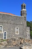 The Church of the Primacy - Tabgha. The Holy Church was built on the Sea Gennesaret. Jesus then fed