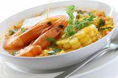 chupe de camarones, sopa de camarón peruano