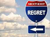 Regret road sign