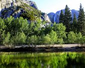 Merced River with Yosemite Falls