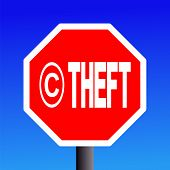 Stop Copyright Theft Sign