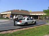 Police At Bank Robbery