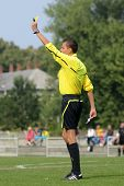 KAPOSVAR, HUNGARY - SEPTEMBER 1: Attila Csatlos (referee)  in action at the Hungarian National Champ