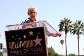 LOS ANGELES - SEP 4:  Ellen DeGeneres at the Hollywood Walk of Fame Ceremony for Ellen Degeneres at