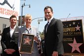 LOS ANGELES - SEP 4:  Ryan Seacrest, Ellen DeGeneres, Jimmy Kimmel at the Hollywood Walk of Fame Cer