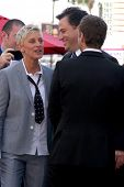 LOS ANGELES - SEP 4:  Ellen DeGeneres, Jimmy Kimmel, Ryan Seacrest at the Hollywood Walk of Fame Cer
