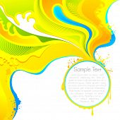 illustration of abstract splashs of colors on Holi background