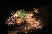 International Fireworks Contest At Chiangmai